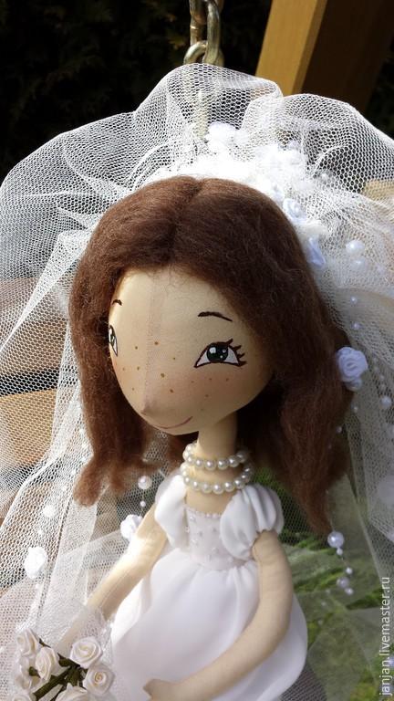 Портретные куклы ручной работы. Ярмарка Мастеров - ручная работа. Купить Жених и Невеста Текстильная кукла. Handmade. Белый, невеста