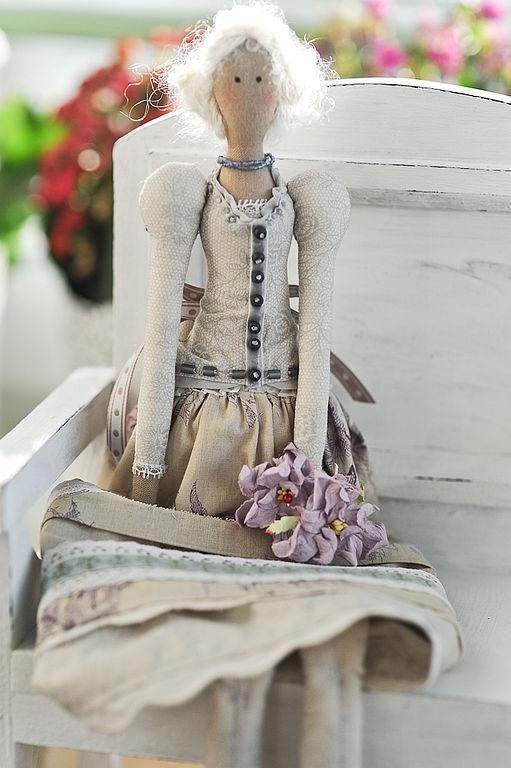 Куклы Тильды ручной работы. Ярмарка Мастеров - ручная работа. Купить Ника. Handmade. Кукла интерьерная, американский хлопок, кружево