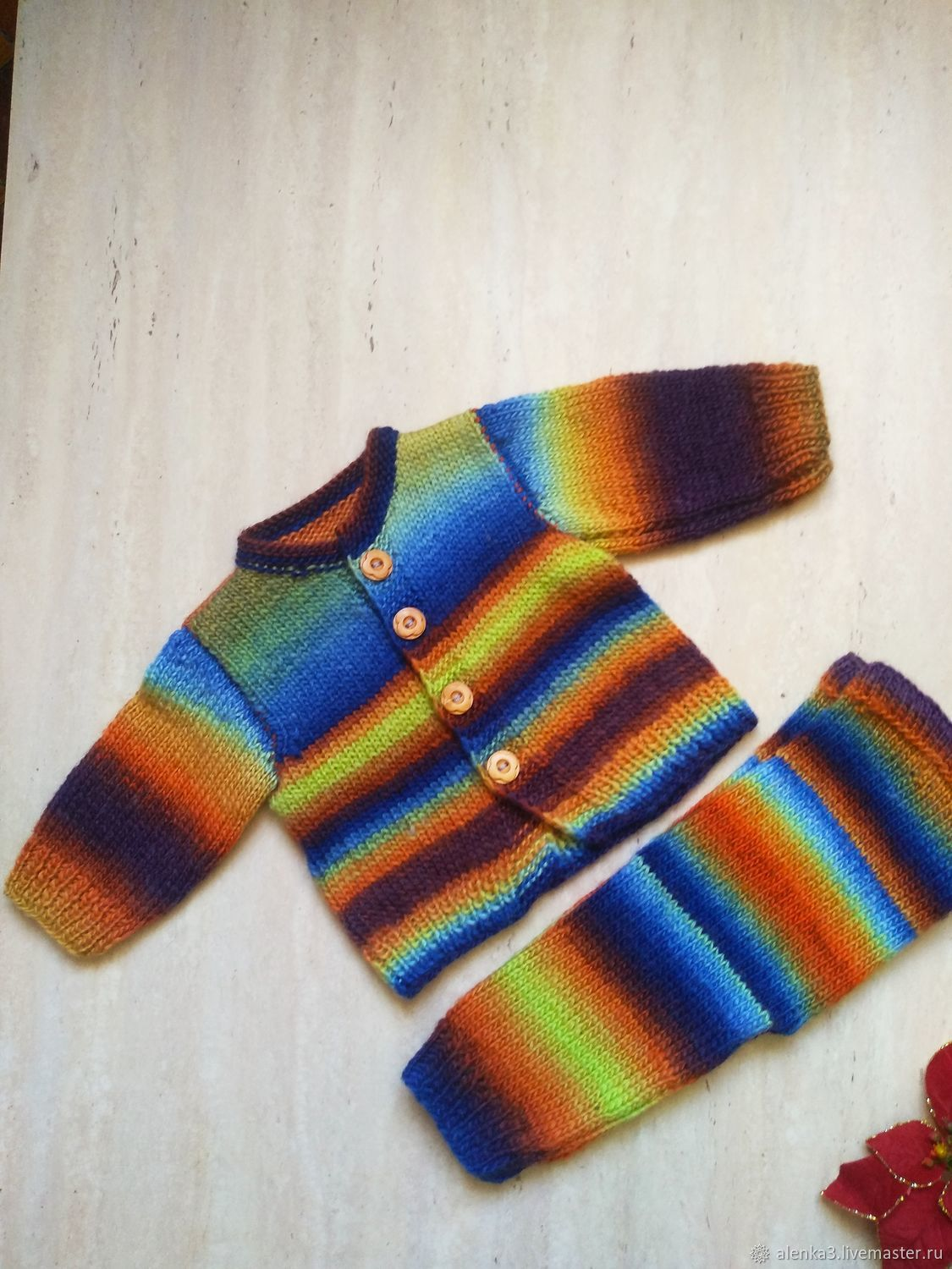Baby clothing sets: knitted suit for kids 3-6 months old, Baby Clothing Sets, Moscow,  Фото №1