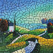 Картины и панно ручной работы. Ярмарка Мастеров - ручная работа Объёмная бумажная мозаика «На холмах». Handmade.