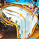 """Женские сумки ручной работы. Сумка женская кожаная """"Тающее время"""". Елена. Интернет-магазин Ярмарка Мастеров. Рисунок"""
