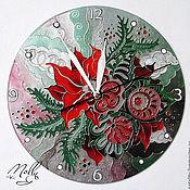 """Для дома и интерьера ручной работы. Ярмарка Мастеров - ручная работа Часы """"Новогодние"""". Handmade."""