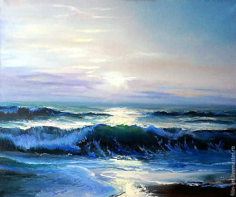 Seascape Oil Painting On Canvas Quot Morning On The Sea