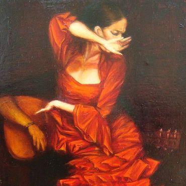 """Картины и панно ручной работы. Ярмарка Мастеров - ручная работа """"Фламенко"""". Handmade."""