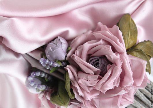 """Ткань для цветов ручной работы. Ярмарка Мастеров - ручная работа. Купить Шелк натуральный """"Розовое кружево"""". Handmade. Розовый"""