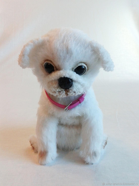Dog pug white, Stuffed Toys, Nevinnomyssk,  Фото №1