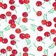 Шитье ручной работы. Набор немецкого хлопка Cherry. Ткани из Германии (Hobbyundstoff). Ярмарка Мастеров. Вишни, набор тканей для тильды