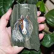 Сувениры и подарки ручной работы. Ярмарка Мастеров - ручная работа Лошадь - сувенир 2014 магнит  из камня. Handmade.