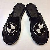 """Обувь ручной работы. Ярмарка Мастеров - ручная работа Кожаные тапочки """"BMW"""" закрытые. Handmade."""