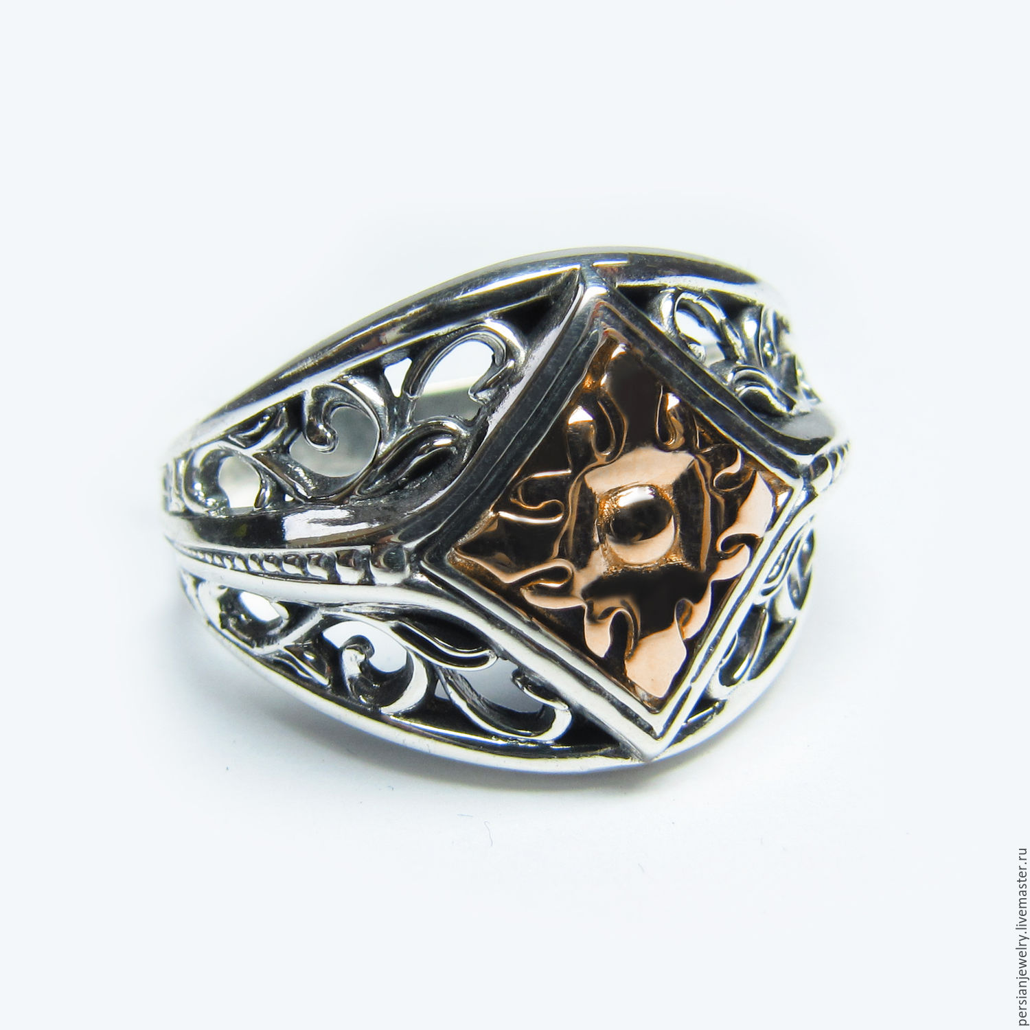 Ring made of silver and gold 'Flower Flora', Rings, Sevastopol,  Фото №1