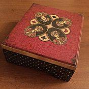 Для дома и интерьера ручной работы. Ярмарка Мастеров - ручная работа шкатулка для игральных карт. Handmade.