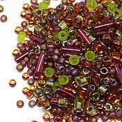 Бисер ручной работы. Ярмарка Мастеров - ручная работа Бисер Микс TOHO №3227 малиново-зеленый Японский бисер TOHO Beads 10гр. Handmade.