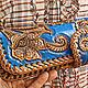 Leather wallet 'Favorite flower' - blue, Wallets, Krasnodar,  Фото №1