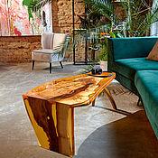 Для дома и интерьера handmade. Livemaster - original item coffee table. Exclusive in amber fill.. Handmade.