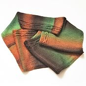 Scarves handmade. Livemaster - original item Snood in two turns with a scythe. Handmade.