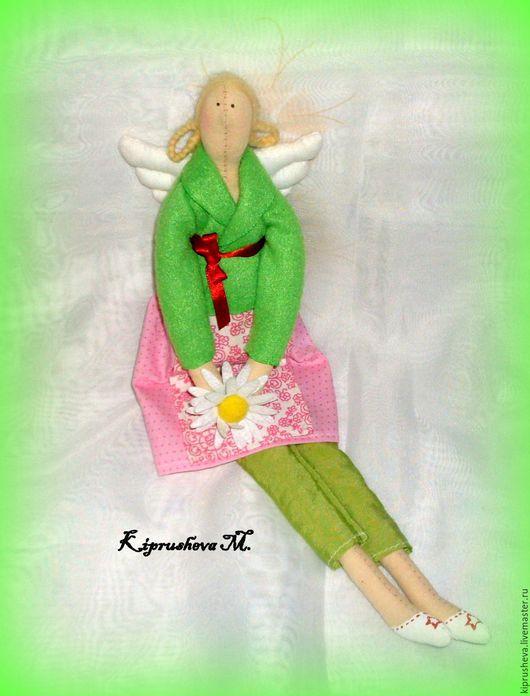 Куклы Тильды ручной работы. Ярмарка Мастеров - ручная работа. Купить Тильдочка с ромашкой. Handmade. Комбинированный, тильда ангел, подарок