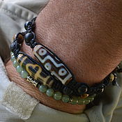 Фен-шуй и эзотерика handmade. Livemaster - original item dzi dzi bracelets-Set of men`s charm bracelets. Handmade.