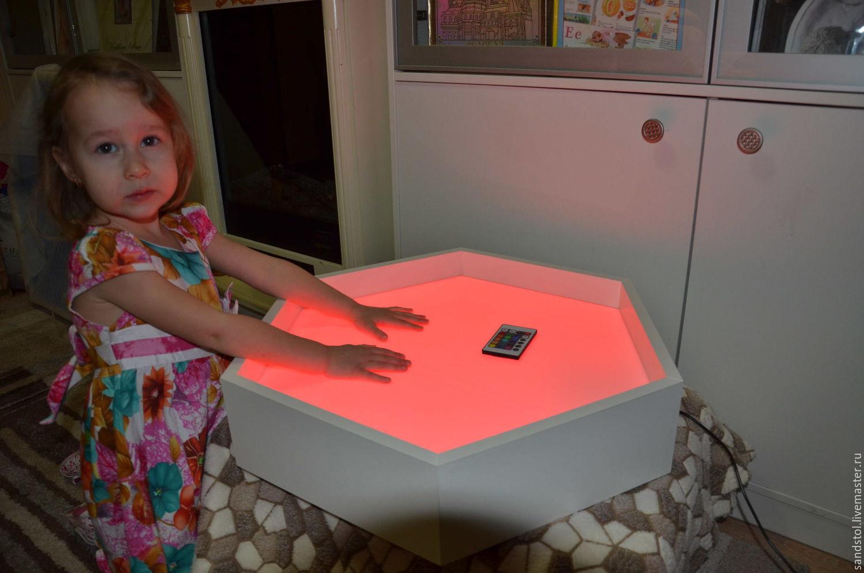 Круглый стол с подсветкой для рисования песком