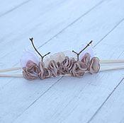 Работы для детей, ручной работы. Ярмарка Мастеров - ручная работа Реквизит для фотосессии новорожденных повязочка на голову. Handmade.