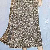 Одежда handmade. Livemaster - original item Skirt Maxi Jersey (taupe print). Handmade.