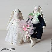 """Свадебный салон ручной работы. Ярмарка Мастеров - ручная работа Свадебные зайцы """"Классические"""". Handmade."""