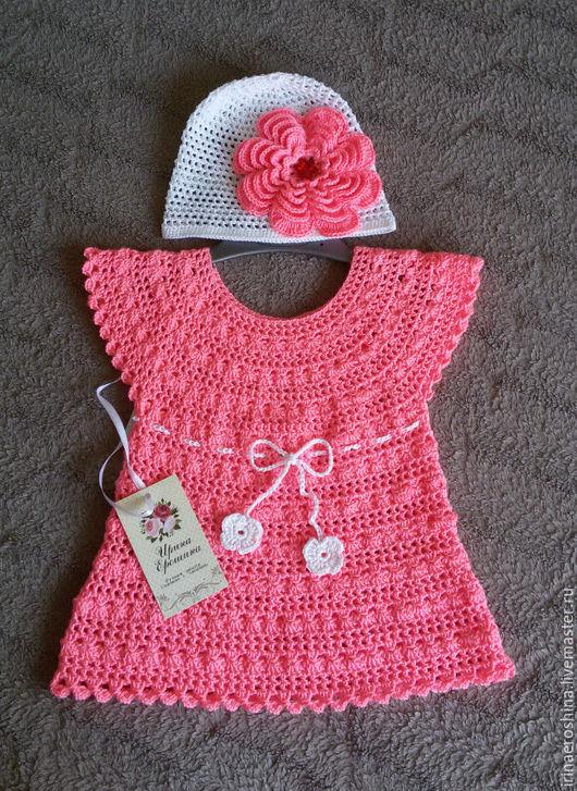 Одежда для девочек, ручной работы. Ярмарка Мастеров - ручная работа. Купить Платье на 9-12 месяцев. Handmade. Розовый