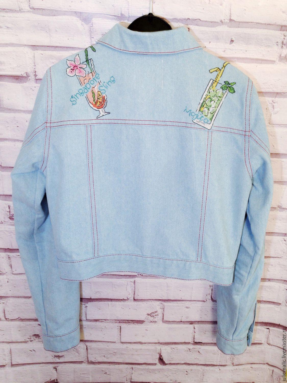 Women S Denim Jacket Embroidery Jacket Embroidered Jacket Blue
