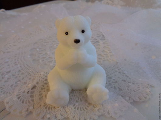 Мыло ручной работы. Ярмарка Мастеров - ручная работа. Купить Белый медведь. Подарки для всех. Подарочное мыло.. Handmade. Медведь
