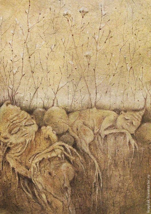 Фантазийные сюжеты ручной работы. Ярмарка Мастеров - ручная работа. Купить Время, когда травы спят...Картина - принт на холсте.. Handmade.