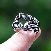 Украшения handmade. Livemaster - original item Ring with claws in jewelry steel. Handmade.