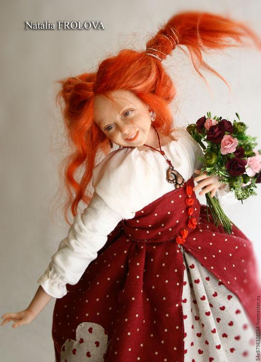 Коллекционные куклы ручной работы. Ярмарка Мастеров - ручная работа. Купить Мая. Handmade. Комбинированный, бизнес подарок