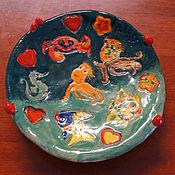 Картины и панно ручной работы. Ярмарка Мастеров - ручная работа Тарелочка в морском стиле. Handmade.