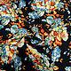 Шитье ручной работы. Штапель яркие цветы на черном BT 9002744. Ткани Fashion Fabric (fashion-fabric). Ярмарка Мастеров.