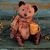 Куклы и игрушки handmade. Livemaster - original item Teddy Bears: Matthew the Soviet bear with a Howler monkey.. Handmade.