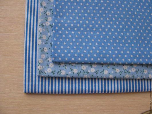 Шитье ручной работы. Ярмарка Мастеров - ручная работа. Купить Набор ткани №2. Handmade. Синий, тильда