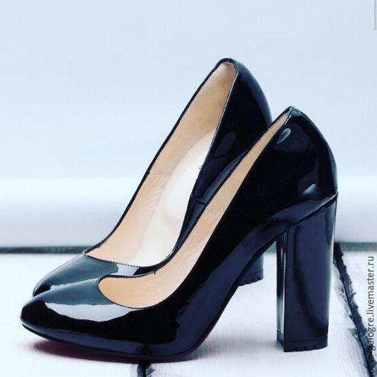 Обувь ручной работы. Ярмарка Мастеров - ручная работа. Купить Туфли женские. Handmade. Черный, туфли из кожи, высокое качество