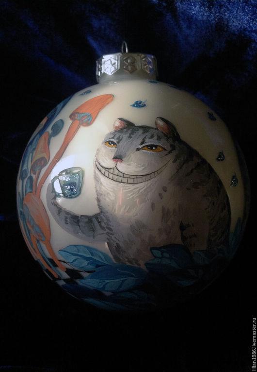 """Новый год 2017 ручной работы. Ярмарка Мастеров - ручная работа. Купить Ёлочный  шар """"Wonderland"""". Handmade. Комбинированный, елочные шары"""