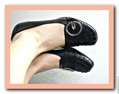 Винтажная обувь. Заказать Винтаж 60-70 е туфли черные. Чердак старого дома (vintage25). Ярмарка Мастеров.