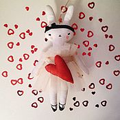 Мягкие игрушки ручной работы. Ярмарка Мастеров - ручная работа Интерьерная игрушка Зайка. Handmade.