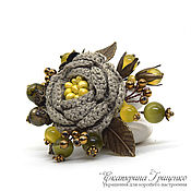 Украшения handmade. Livemaster - original item Knitted brooch. Brooch bouquet. Brooch boho. Beautiful brooch. Handmade.