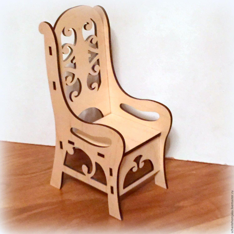 Как сделать стул для барби