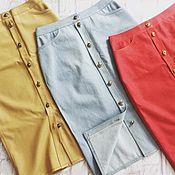 Одежда ручной работы. Ярмарка Мастеров - ручная работа джинсовые юбочки. Handmade.