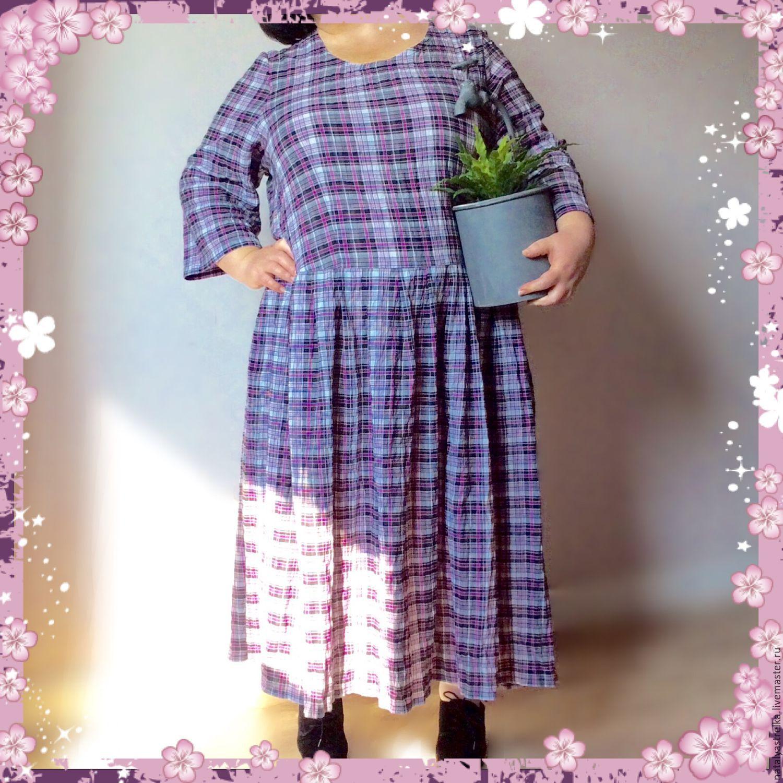 Последнее. Платье из хлопка. Клетчатое. Art. 1036, Платья, Мытищи, Фото №1