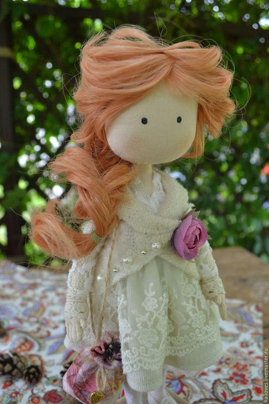 Коллекционные куклы ручной работы. Ярмарка Мастеров - ручная работа. Купить Текстильная кукла. Бохо стиль.. Handmade. Бежевый, микровельвет