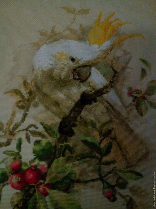 Животные ручной работы. Ярмарка Мастеров - ручная работа. Купить Попугай. Handmade. Золотое руно, Вышивка крестом, нитки мулине