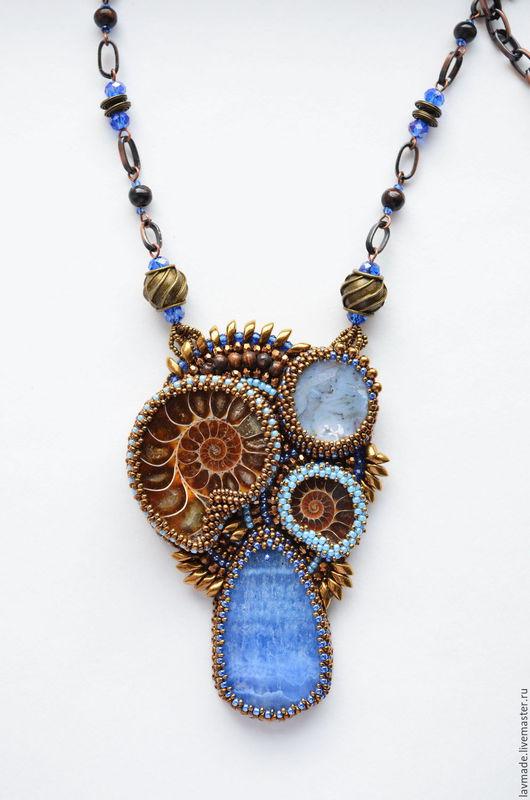 """Кулоны, подвески ручной работы. Ярмарка Мастеров - ручная работа. Купить Кулон """"Sungai Masa"""". Handmade. Синий, коричневый"""