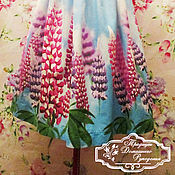 Одежда ручной работы. Ярмарка Мастеров - ручная работа хлопковое платье - сарафан Северное лето. Handmade.