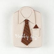 Материалы для творчества handmade. Livemaster - original item Silicone molds for soap Shirt with tie. Handmade.