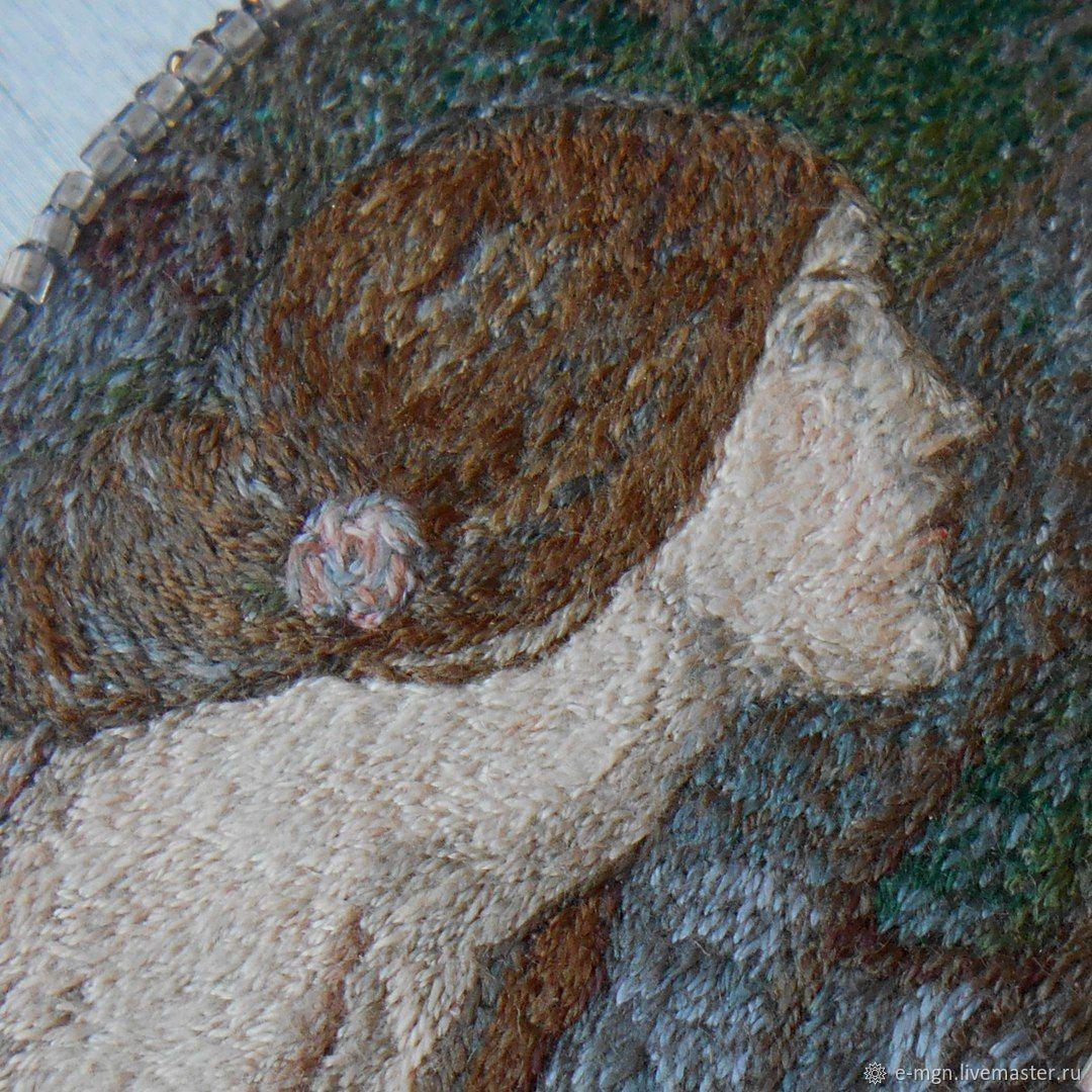 «Ламия» , микровышивка, брошь-колье по картине Джона Уотерхауса, Брошь-булавка, Санкт-Петербург,  Фото №1