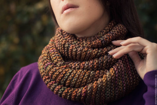 Купить шарф ручной работы. Шерстяной шарф. Handmade.